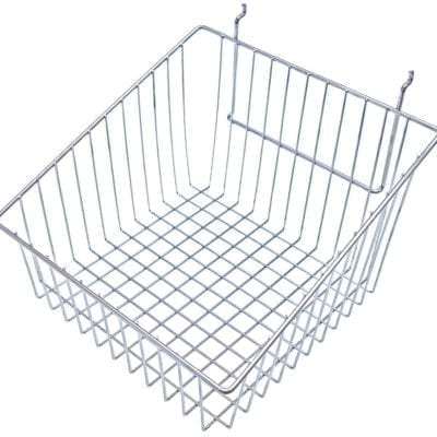 Slatwall Wire Basket - Sloping Slides