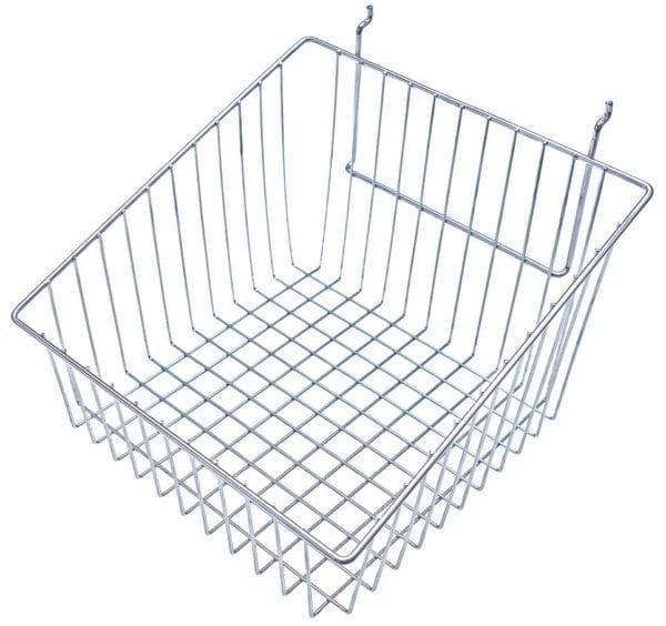 Slatwall Wire Basket - Sloping Slides