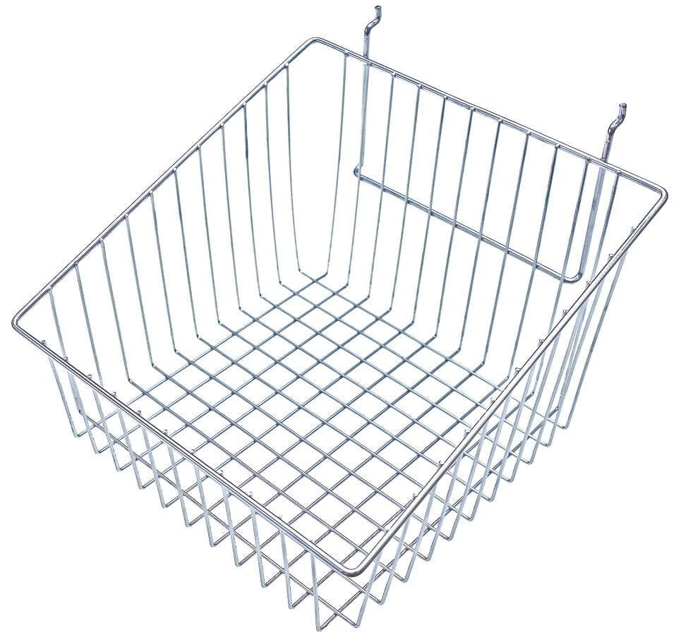 Slatwall Wire Basket – Sloping Slides