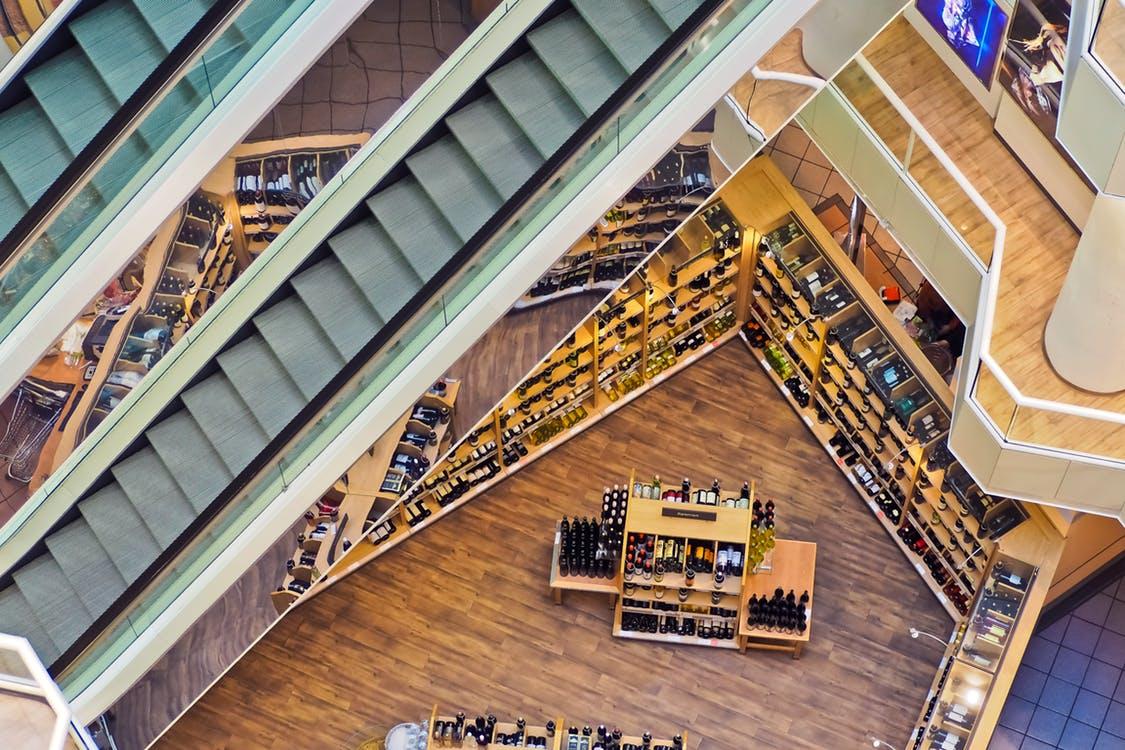 Retail shop inside a mall