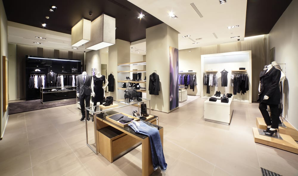 retail displays of clothes