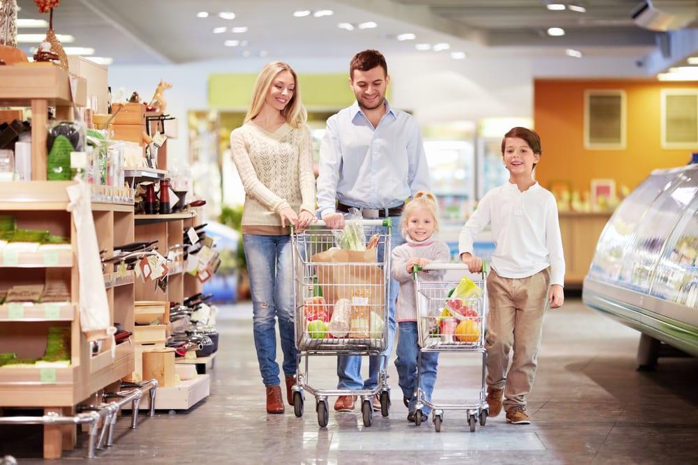 retail shelving shoppers