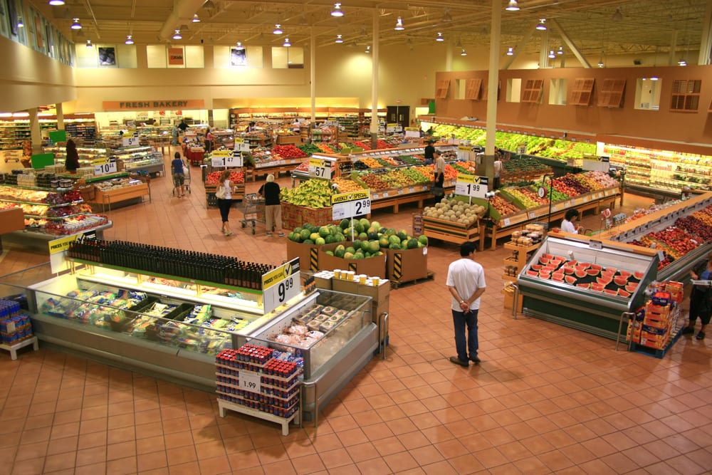 supermarket layout shop fittings