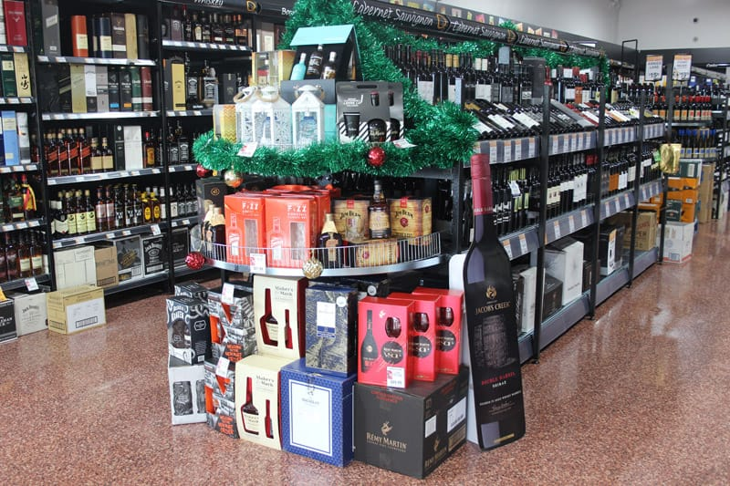 Liquor retail display example