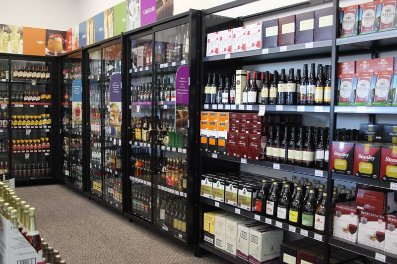 Liquor shelving example