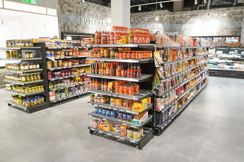 shop shelving for supermarket