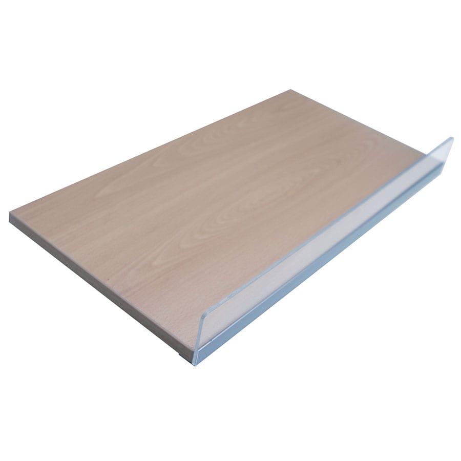 Timber Shelf 18mm MDF With 50mm Acrylic Lip