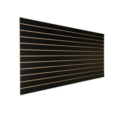 black finish slatwall