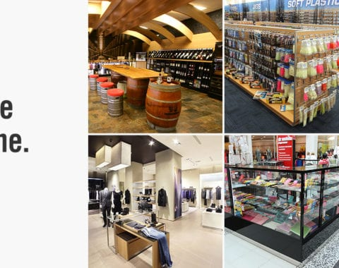Example shop fittings by ADP Store Fixtures