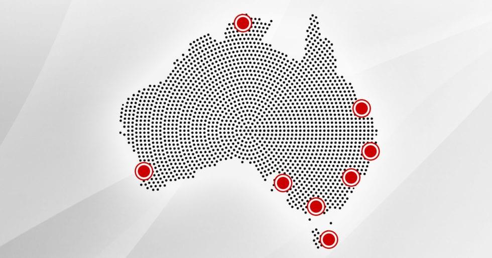 australian map for shopfitting company
