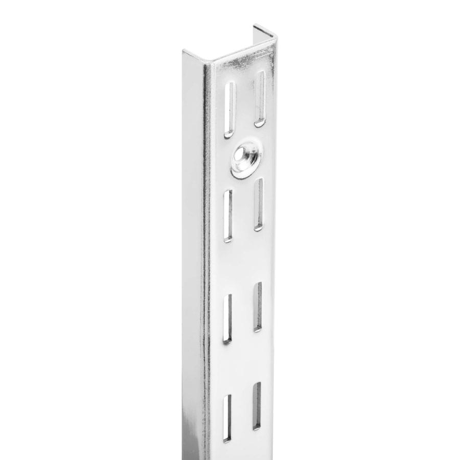 Slotted Wall Stripping – Double Slot Chrome