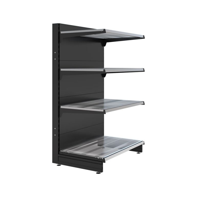 cantilever style end bays liquor stand