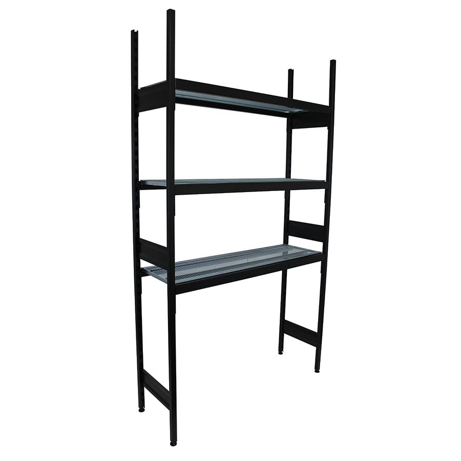Liquor Coolroom Shelving Bays With 3 x Wire Shelves - 914L x 400D x 2210H