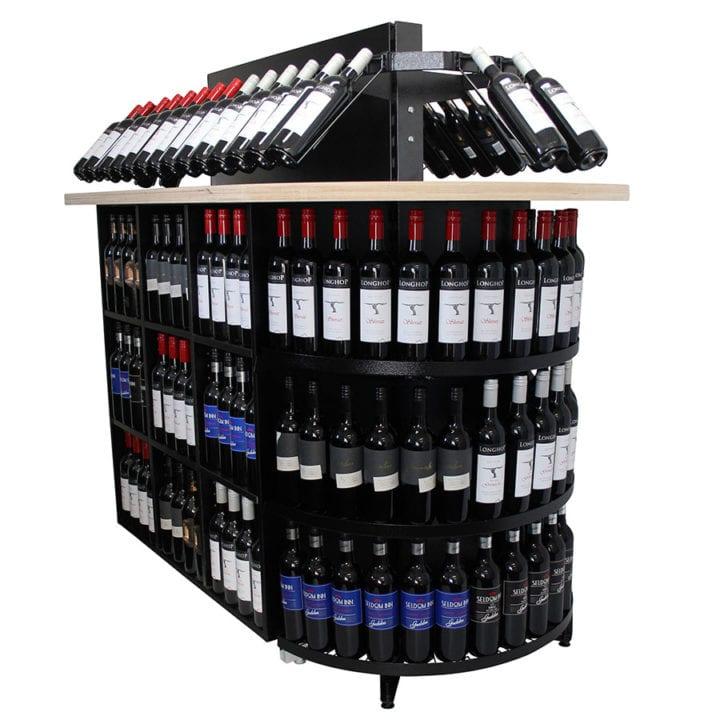 Liquor retail rack circular