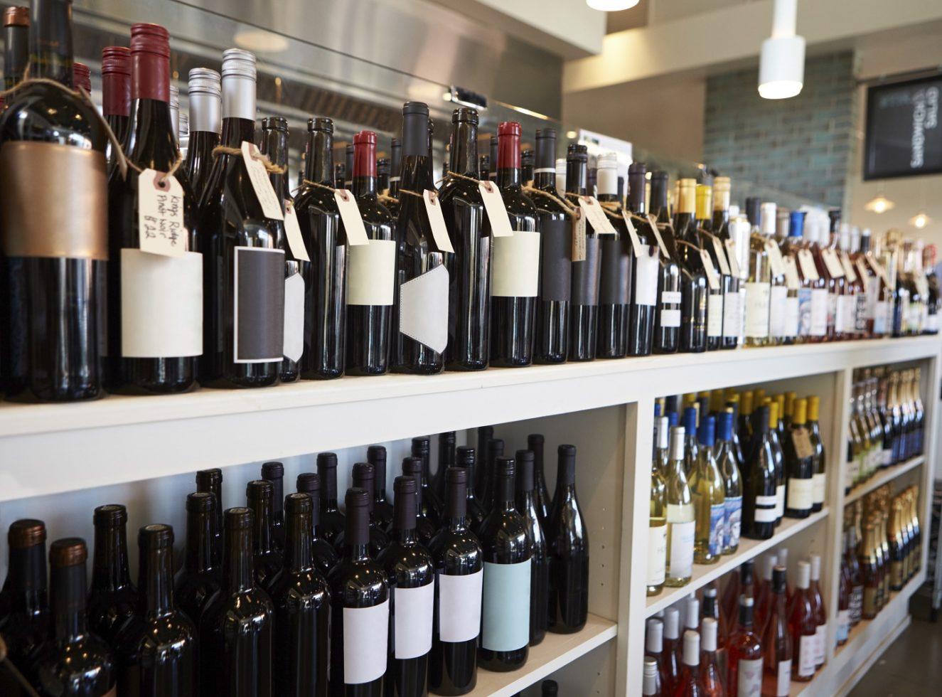 Wine store shelving in Australia