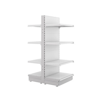 S-Mart 600mm Gondola Shelving Bays - Gloss White