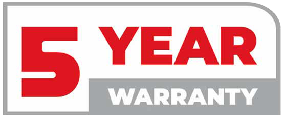 warranty for 5 years