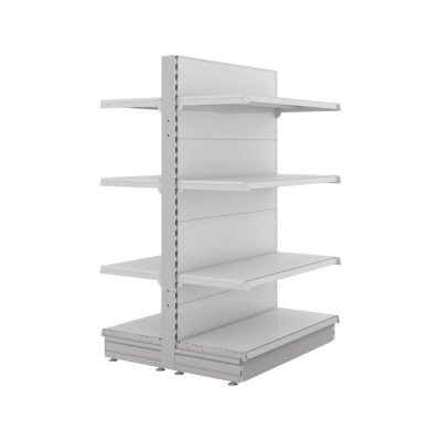 S-Mart 914mm Gondola Shelving Bays - Gloss White