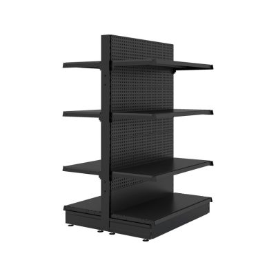 S-Mart 914mm Gondola Shelving Bays - Matt Black
