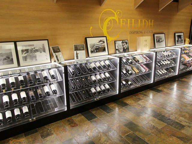 glass wine rack display
