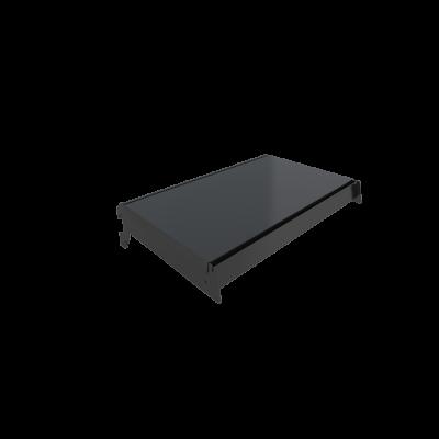 metal shelving matt black